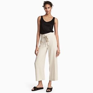 nwt | h&m pinstriped belted high waisted pants